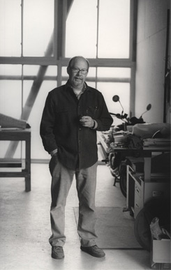 Theodore Prescott in his studio